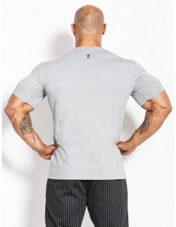 T-shirt klasyczny bawełniany męski szary